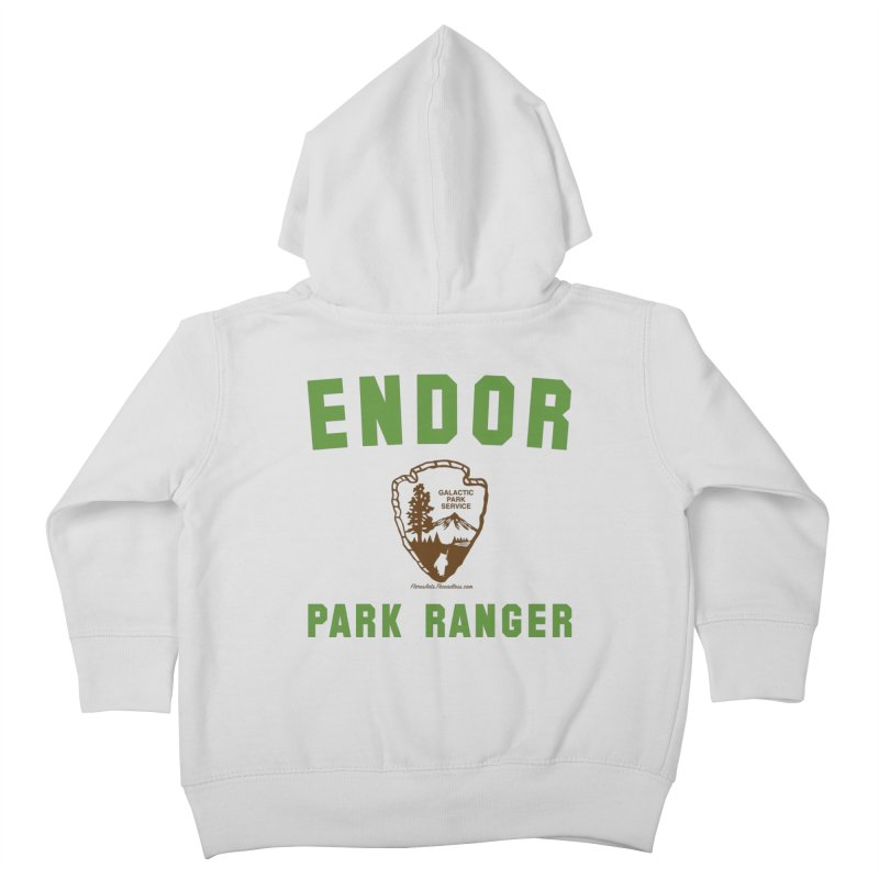 Endor Park Ranger Kids Toddler Zip-Up Hoody by FloresArts