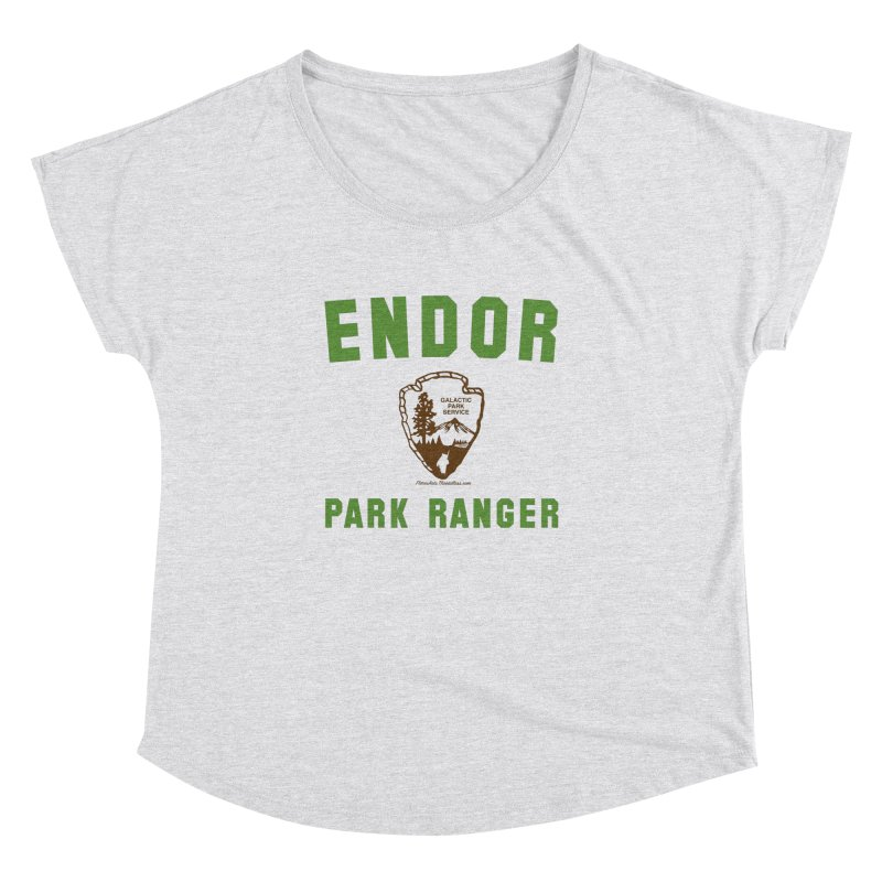 Endor Park Ranger Women's Dolman Scoop Neck by FloresArts