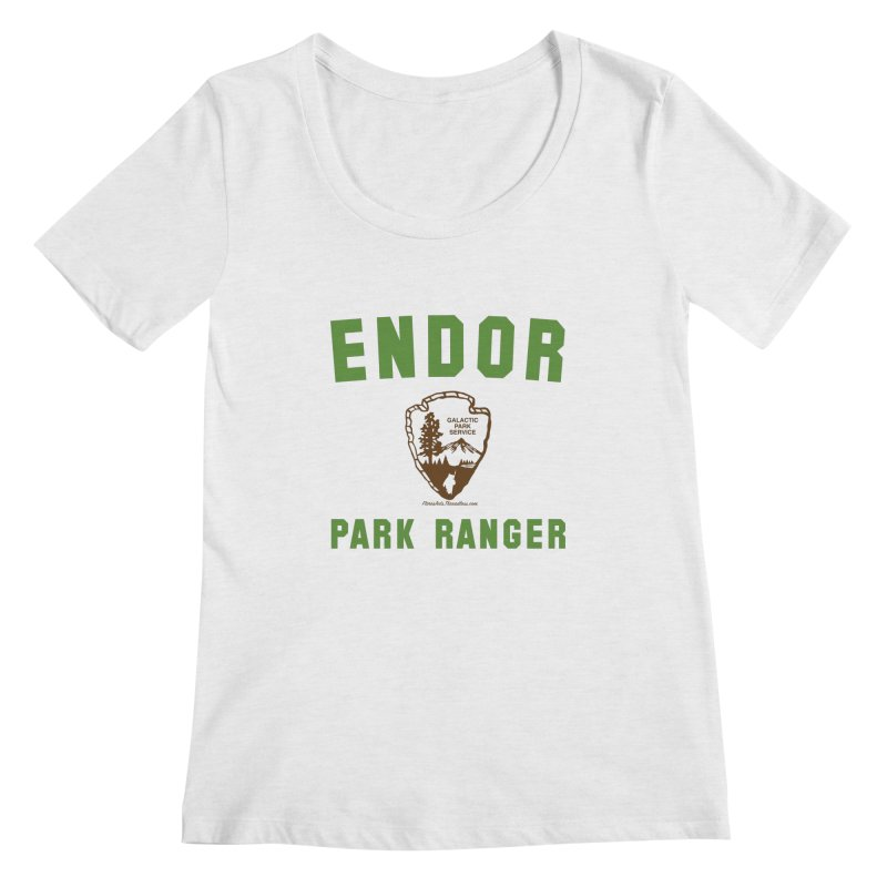 Endor Park Ranger Women's Regular Scoop Neck by FloresArts