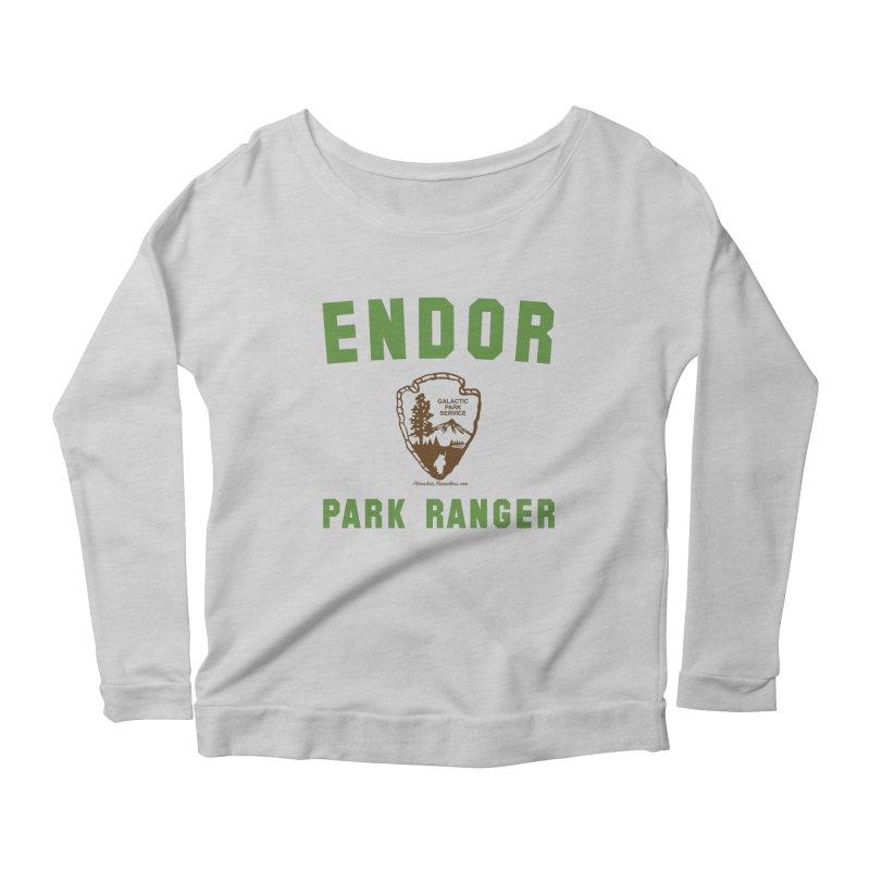 Endor Park Ranger Women's Scoop Neck Longsleeve T-Shirt by FloresArts