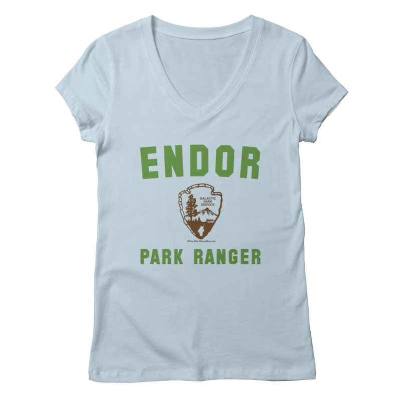 Endor Park Ranger Women's V-Neck by FloresArts