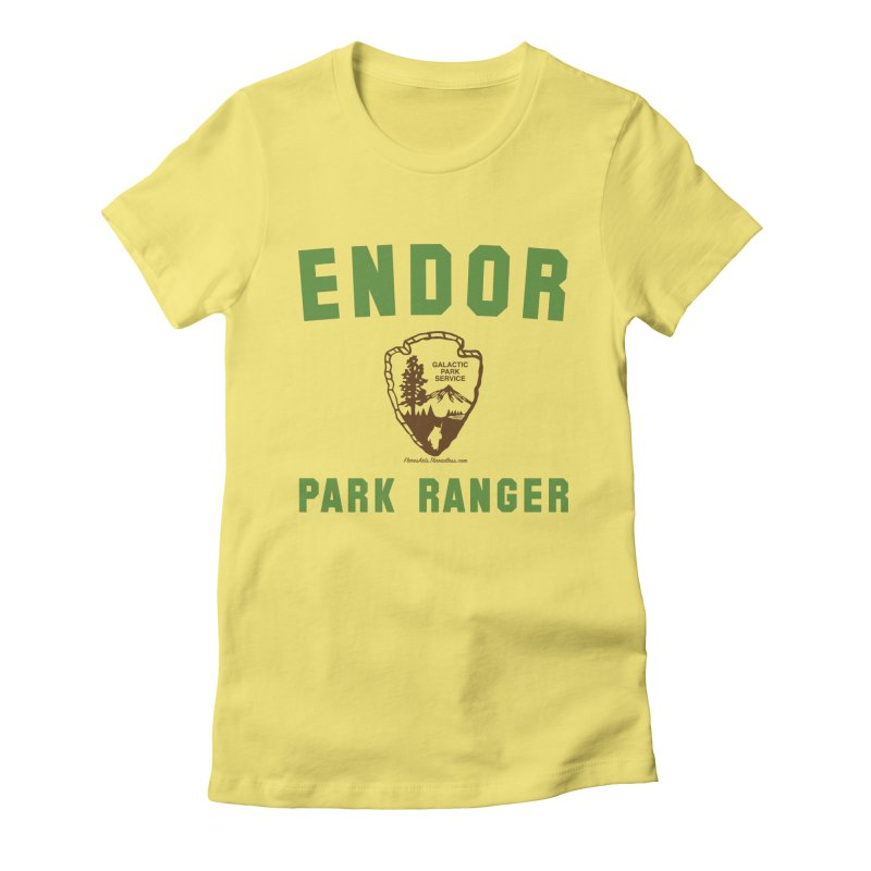 Endor Park Ranger Women's Fitted T-Shirt by FloresArts