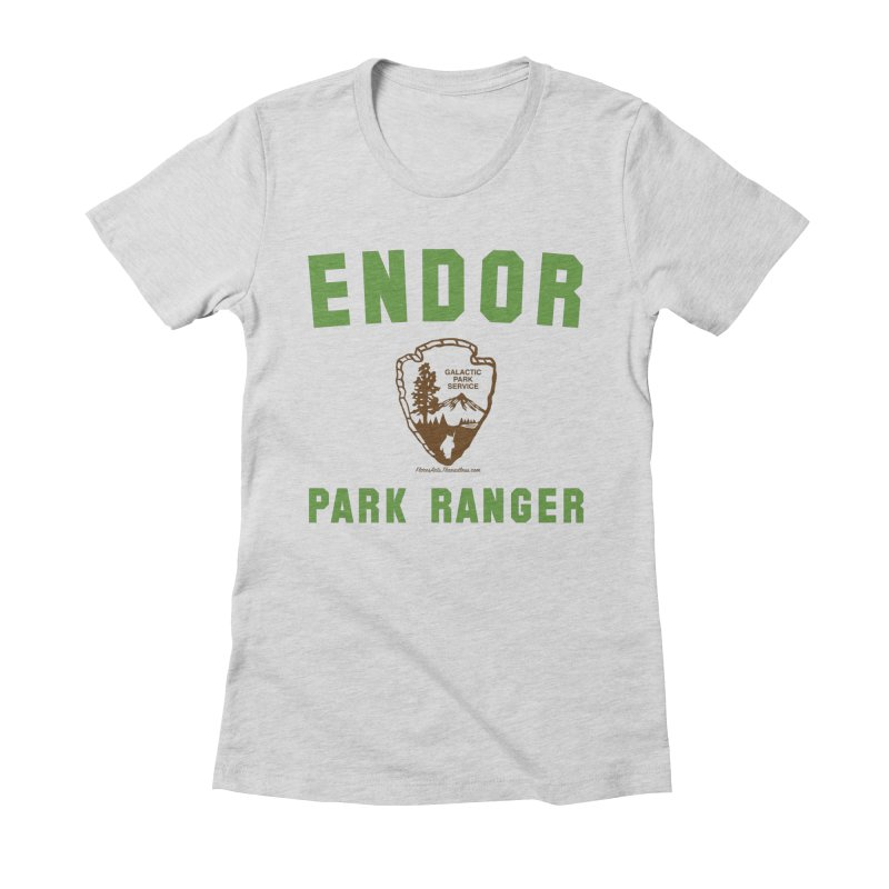 Endor Park Ranger Women's Fitted T-Shirt by FloresArts
