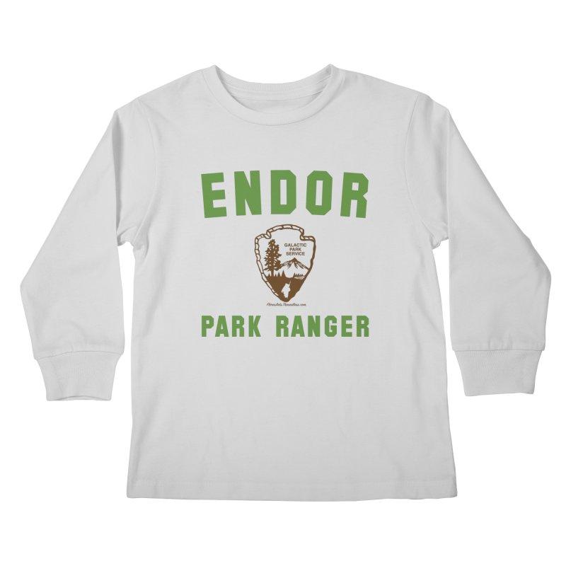 Endor Park Ranger in Kids Longsleeve T-Shirt Heather Grey by FloresArts