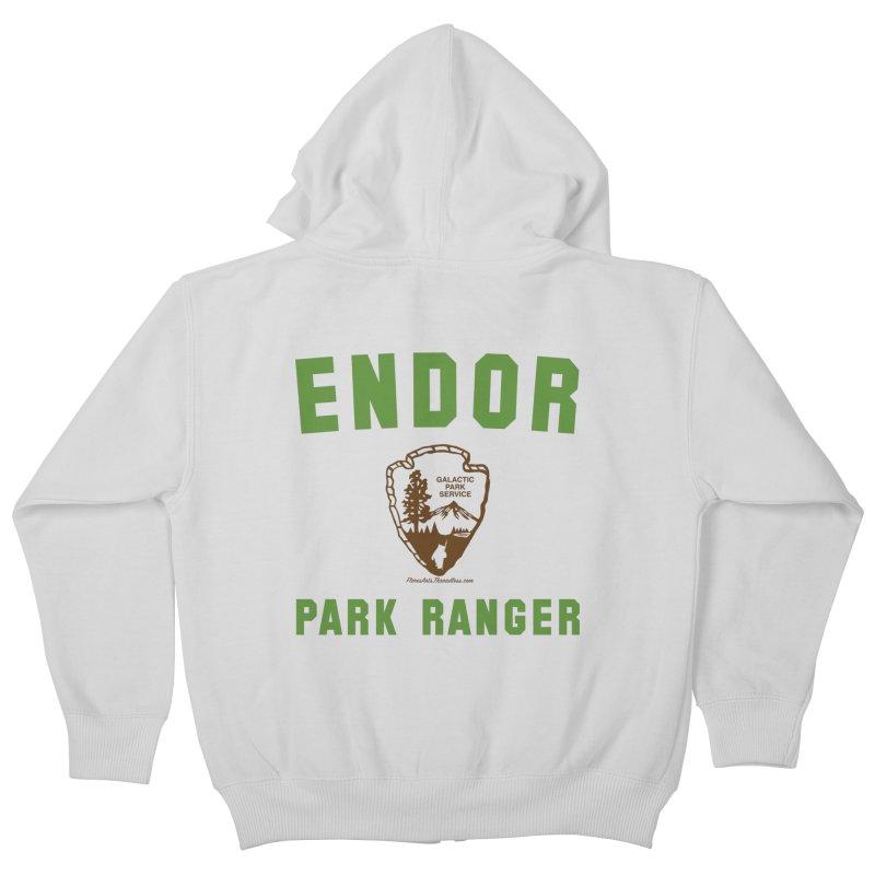 Endor Park Ranger Kids Zip-Up Hoody by FloresArts