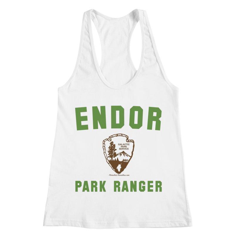 Endor Park Ranger Women's Racerback Tank by FloresArts