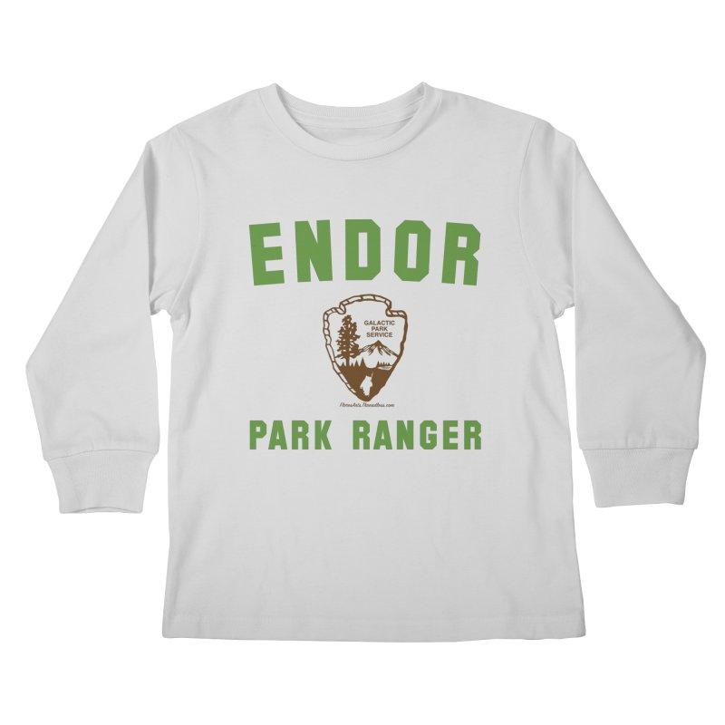 Endor Park Ranger Kids Longsleeve T-Shirt by FloresArts