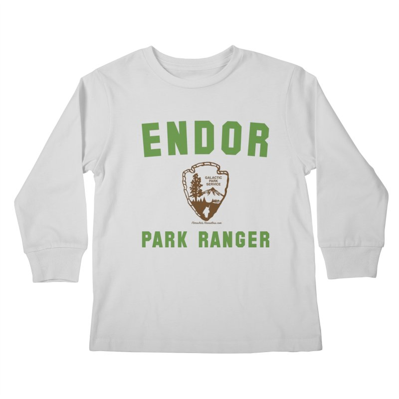 Endor Park Ranger in Kids Longsleeve T-Shirt Heather Grey by FloresArts