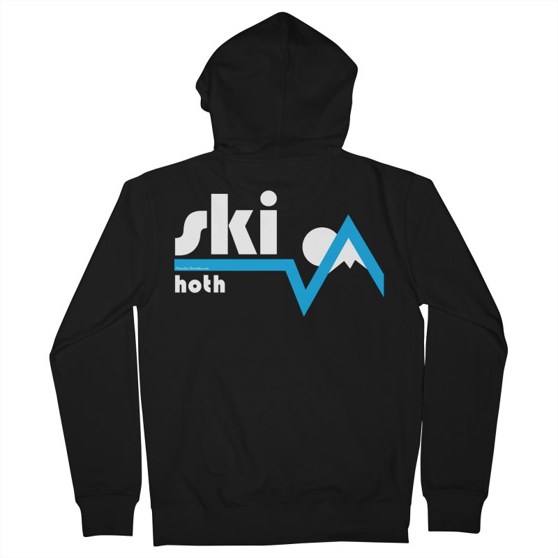 Ski Hoth Men's Zip-Up Hoody by FloresArts