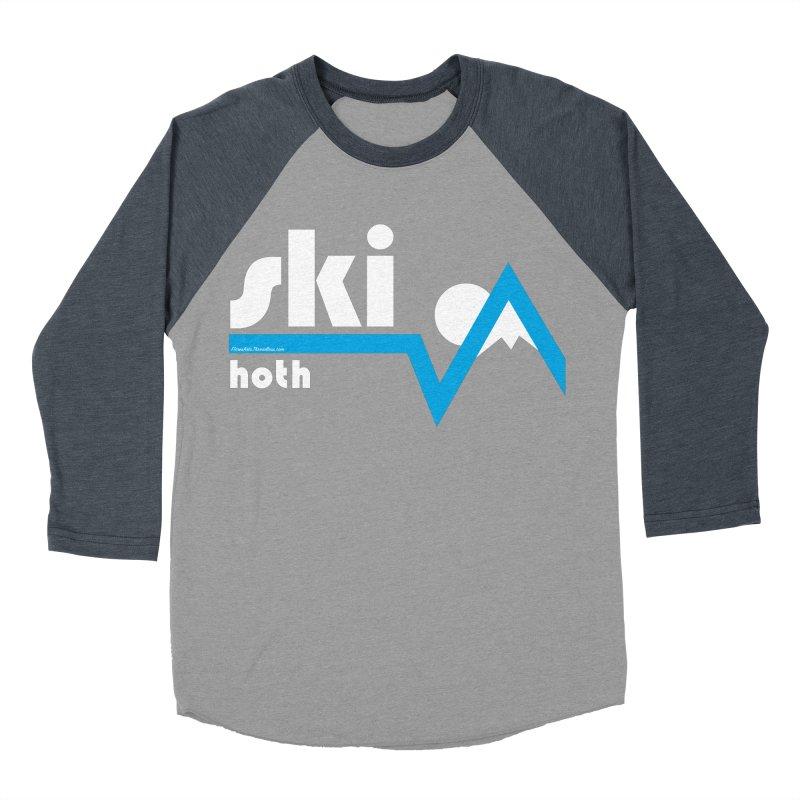 Ski Hoth Men's Baseball Triblend T-Shirt by FloresArts