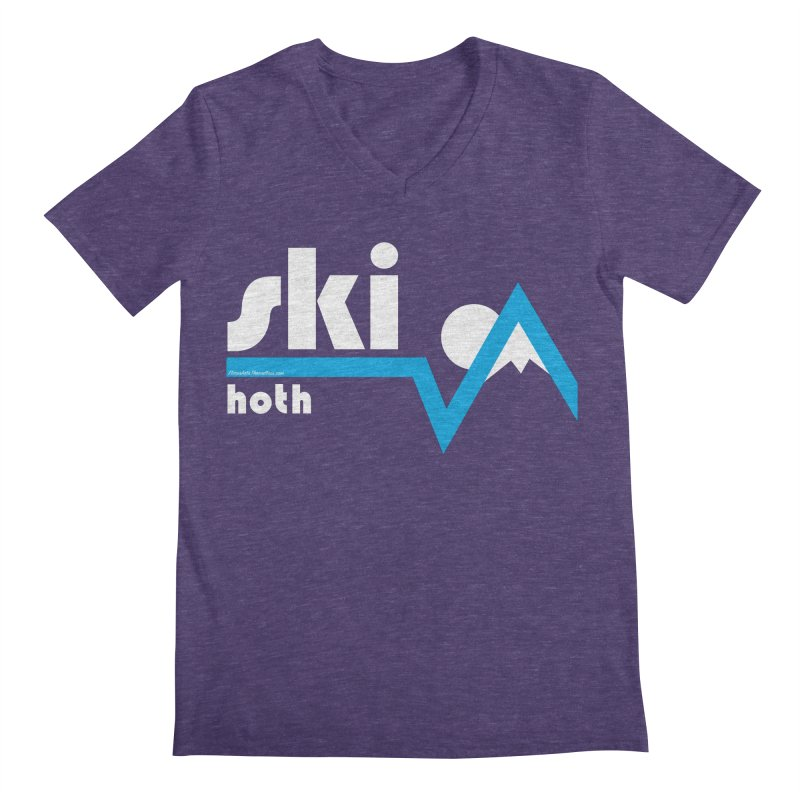 Ski Hoth Men's V-Neck by FloresArts