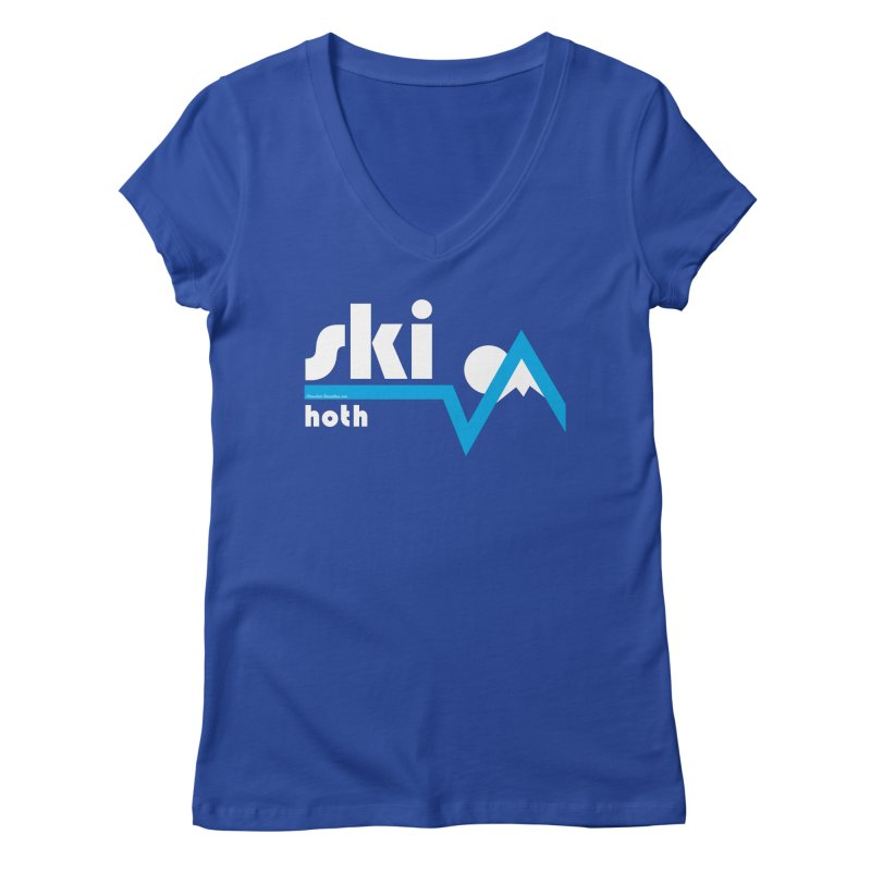 Ski Hoth Women's V-Neck by FloresArts