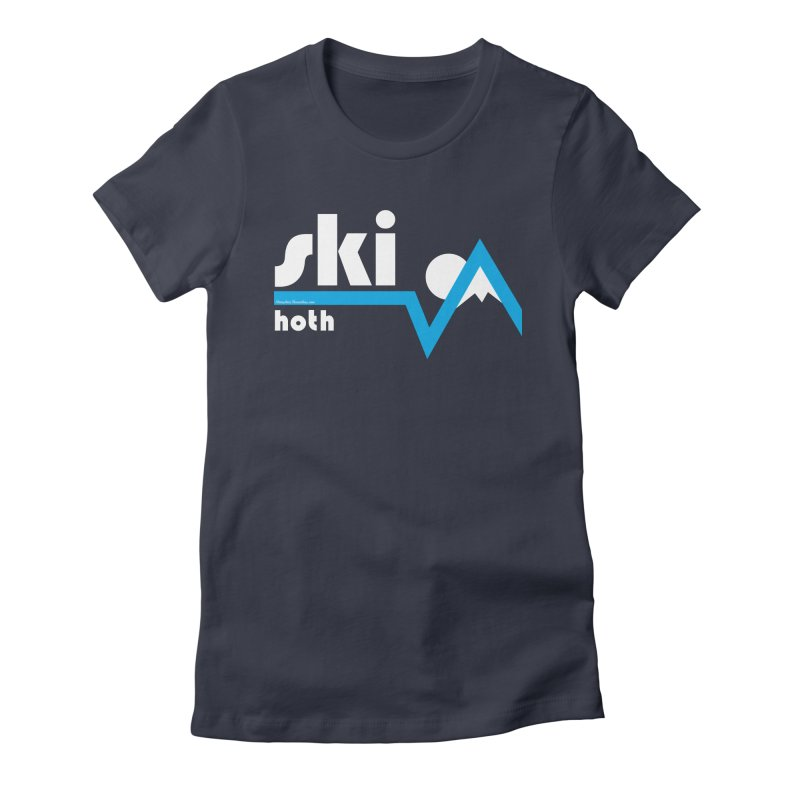 Ski Hoth Women's Fitted T-Shirt by FloresArts