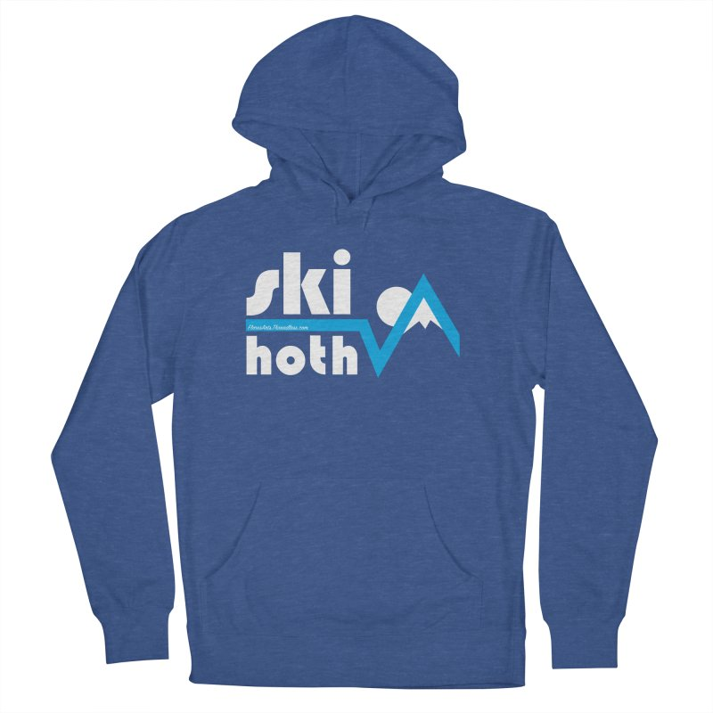 Ski Hoth in Men's French Terry Pullover Hoody Heather Royal by FloresArts