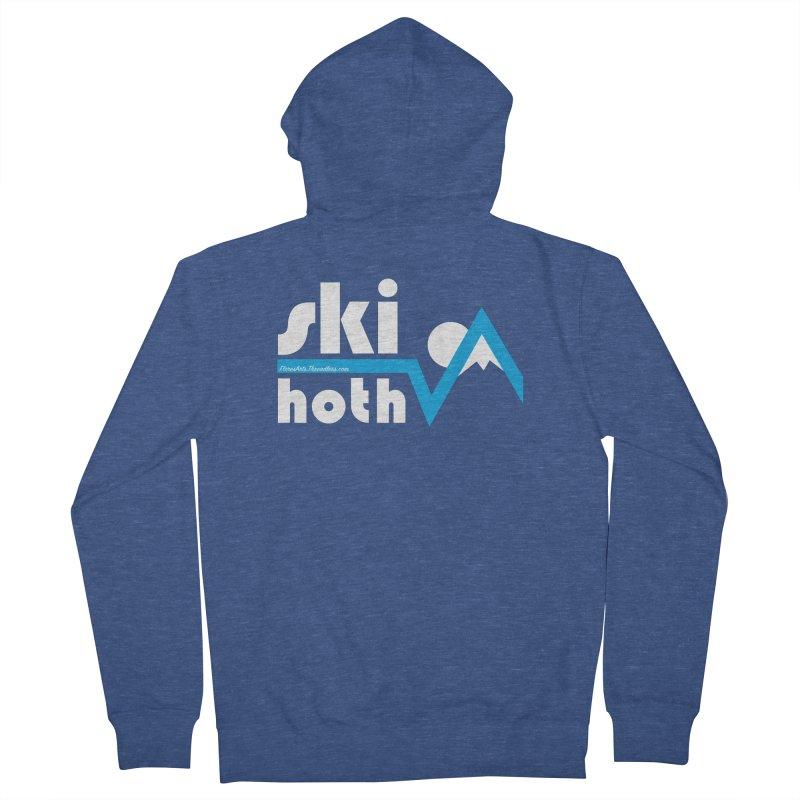 Ski Hoth Men's Zip-Up Hoody by FloresArts