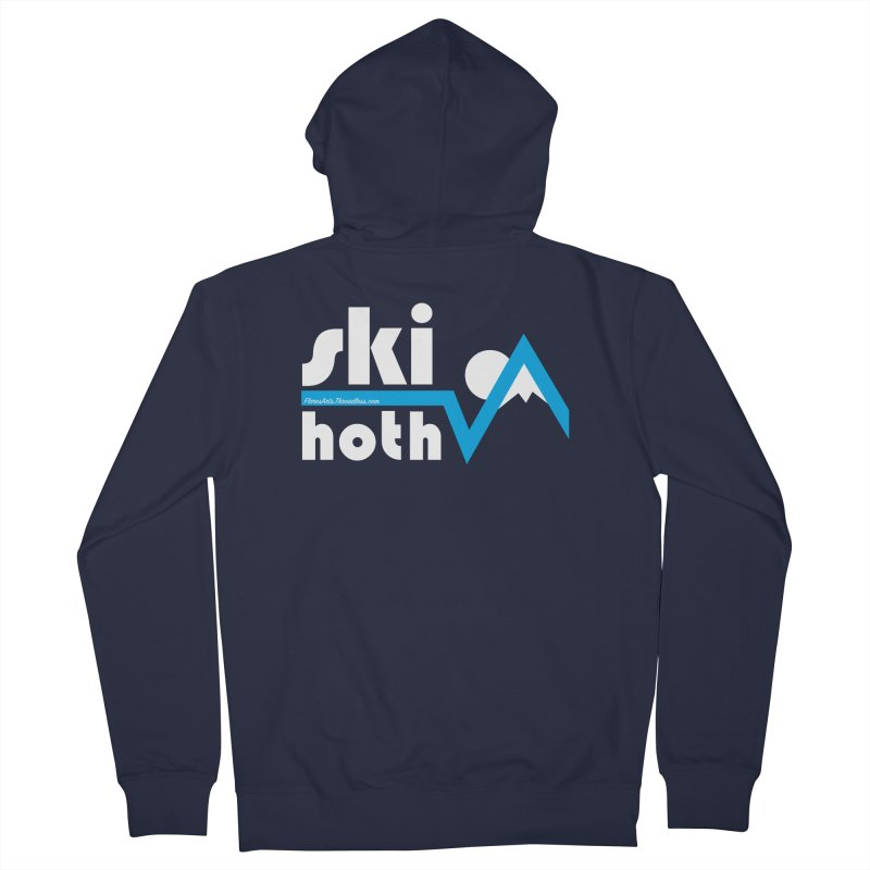 Ski Hoth Men's French Terry Zip-Up Hoody by FloresArts