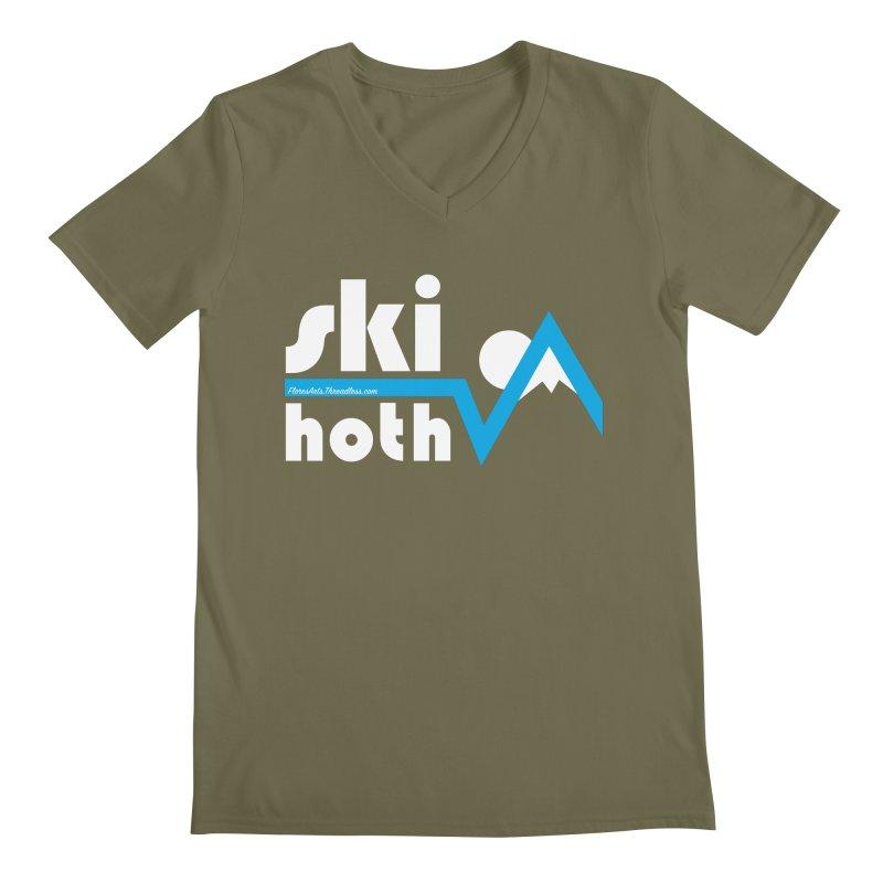 Ski Hoth Men's Regular V-Neck by FloresArts