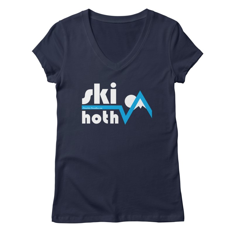 Ski Hoth Women's Regular V-Neck by FloresArts