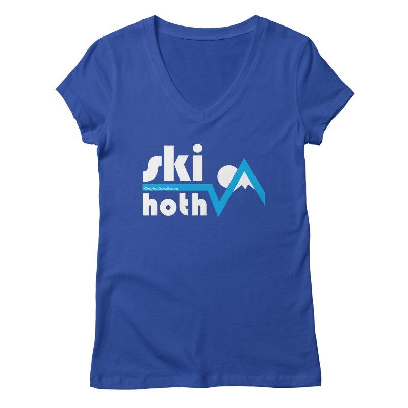Ski Hoth Women's Regular V-Neck by FloresArts