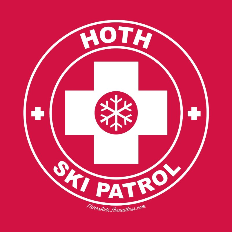 Hoth Ski Patrol Men's T-Shirt by FloresArts