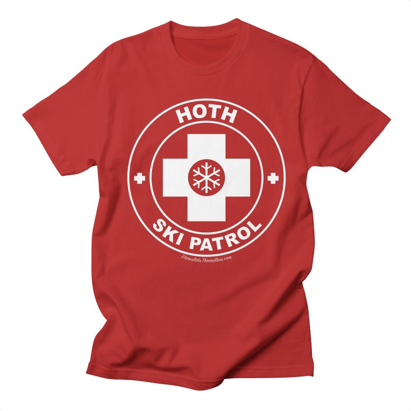 Hoth Ski Patrol in Men's T-shirt Red by FloresArts
