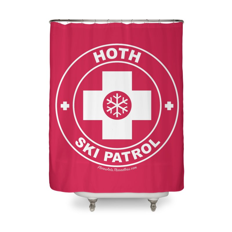 Hoth Ski Patrol Home Shower Curtain by FloresArts