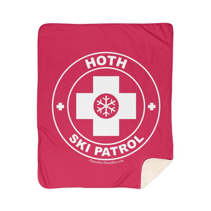Hoth Ski Patrol Home Sherpa Blanket Blanket by FloresArts