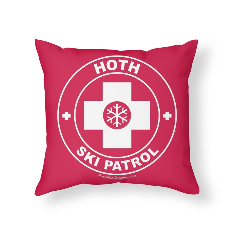 Hoth Ski Patrol Home Throw Pillow by FloresArts