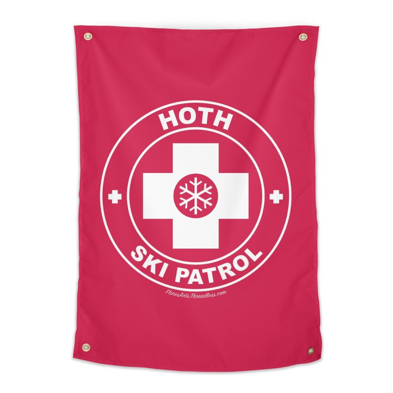 Hoth Ski Patrol Home Tapestry by FloresArts