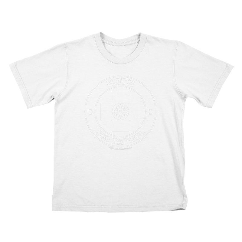 Hoth Ski Patrol Kids T-Shirt by FloresArts