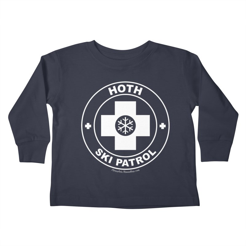 Hoth Ski Patrol Kids Toddler Longsleeve T-Shirt by FloresArts