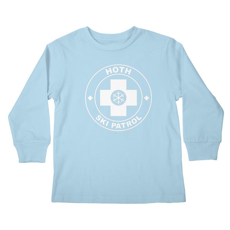 Hoth Ski Patrol Kids Longsleeve T-Shirt by FloresArts