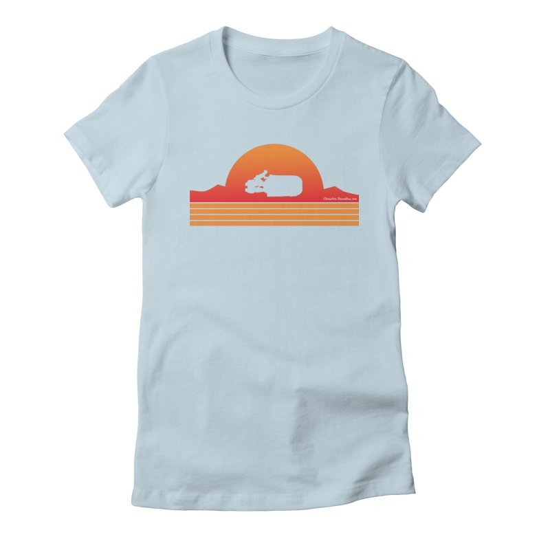 Rey Speeder in Women's Fitted T-Shirt Baby Blue by FloresArts