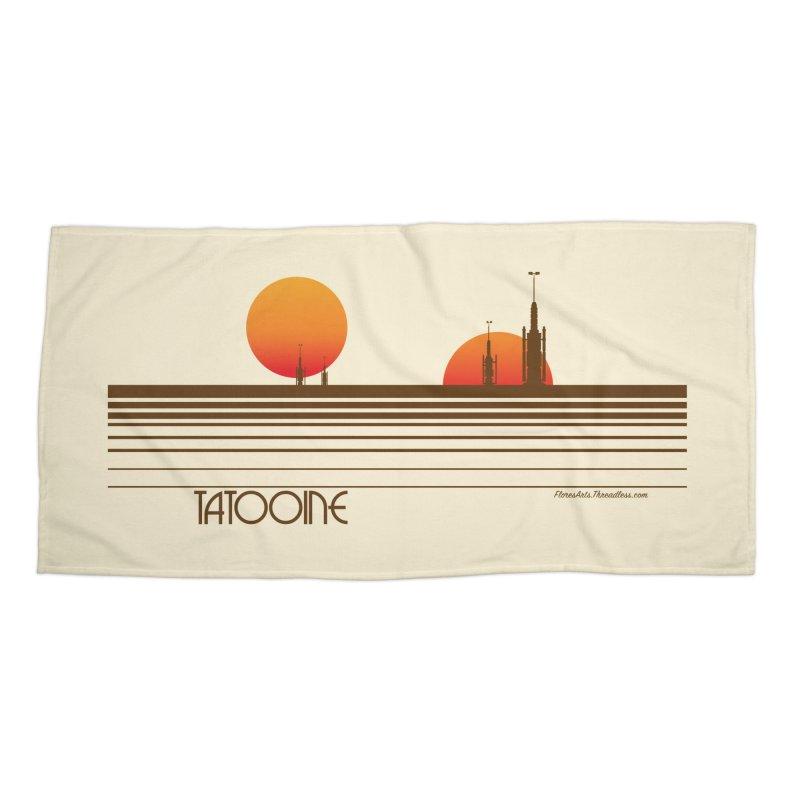 Visit Tatooine Accessories Beach Towel by FloresArts