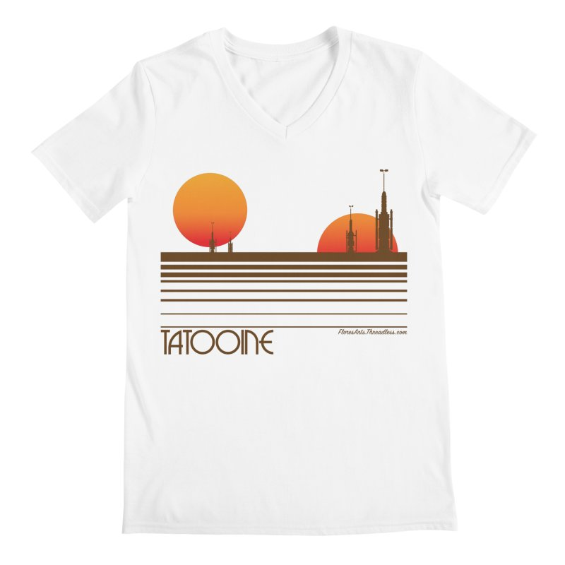 Visit Tatooine Men's V-Neck by FloresArts