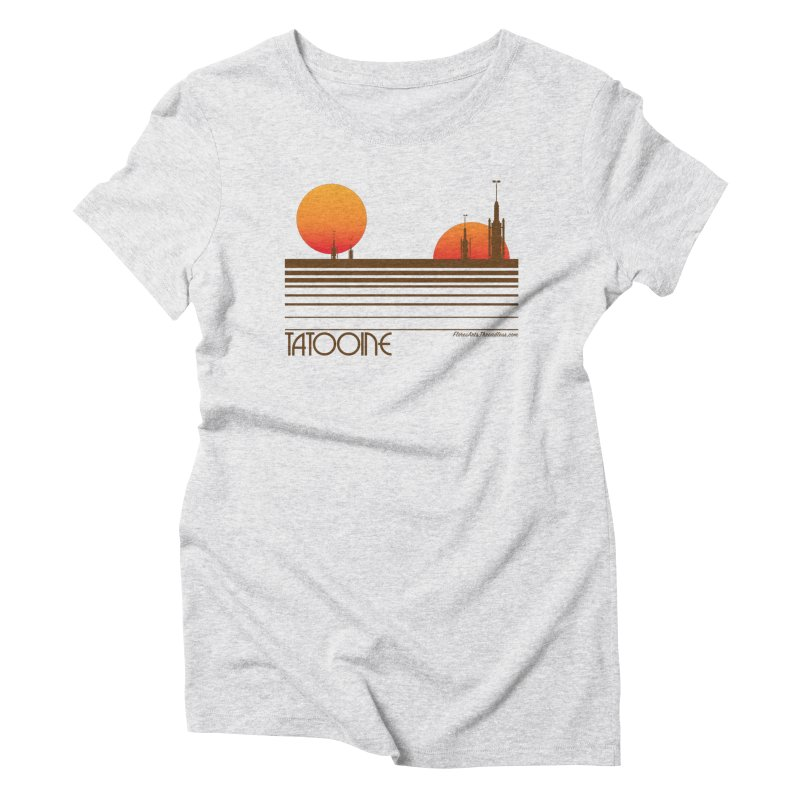 Visit Tatooine Women's Triblend T-Shirt by FloresArts