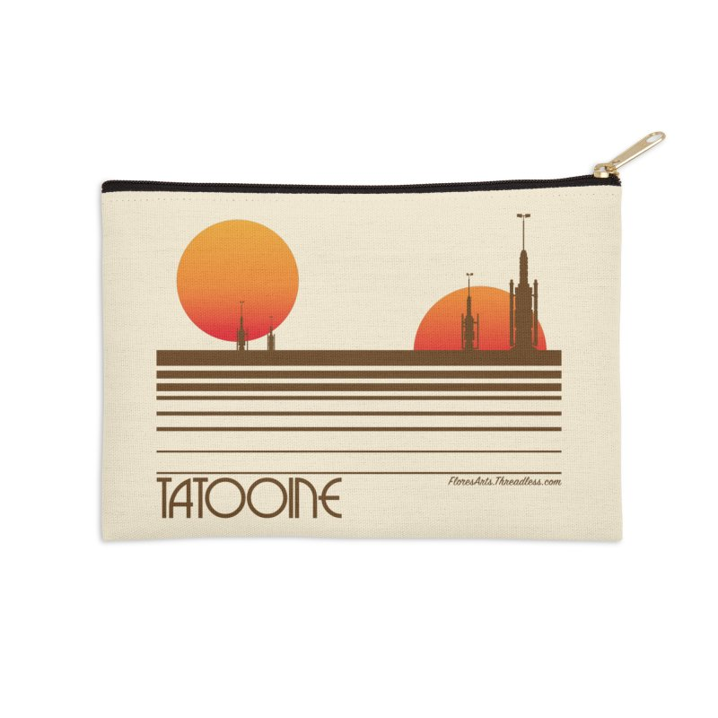 Visit Tatooine Accessories Zip Pouch by FloresArts
