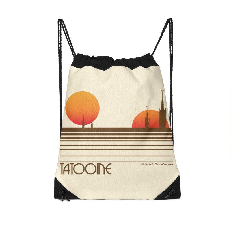 Visit Tatooine Accessories Drawstring Bag Bag by FloresArts