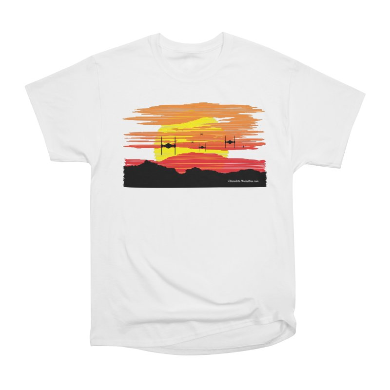 TIE Fighters Approaching Women's Heavyweight Unisex T-Shirt by FloresArts