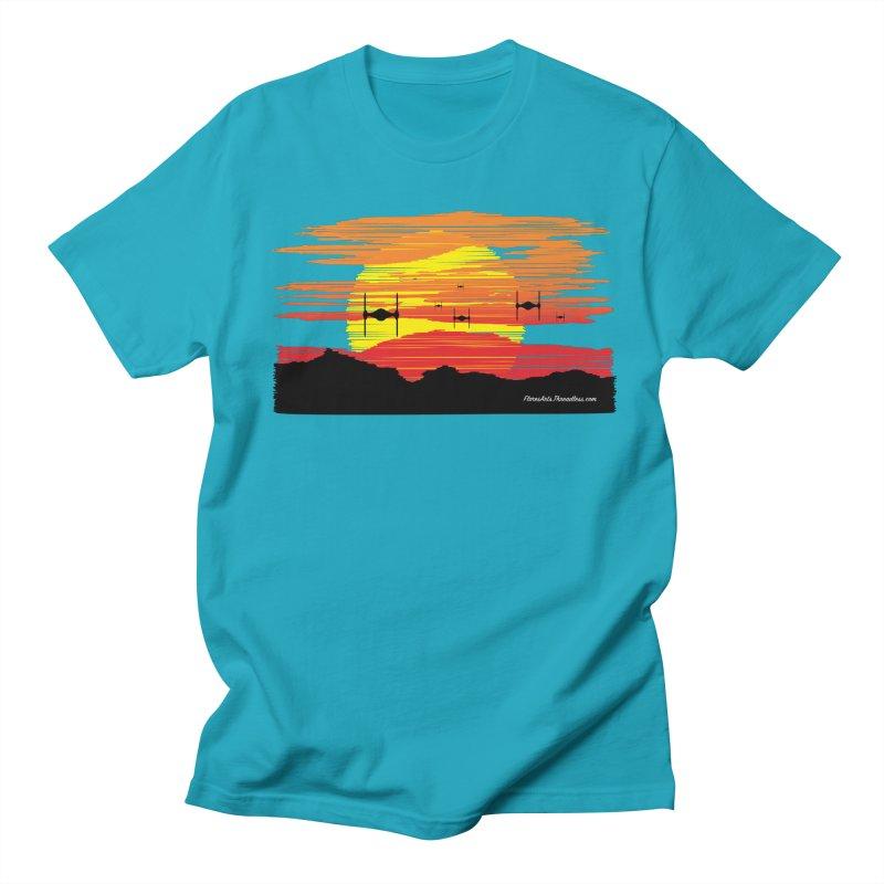 TIE Fighters Approaching Men's Regular T-Shirt by FloresArts