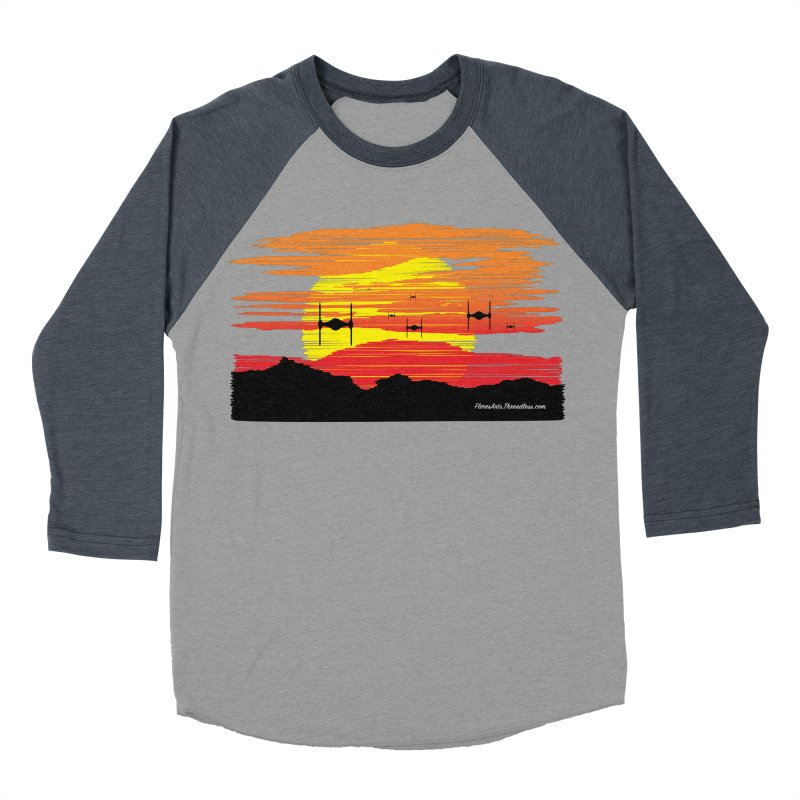 TIE Fighters Approaching Men's Baseball Triblend Longsleeve T-Shirt by FloresArts