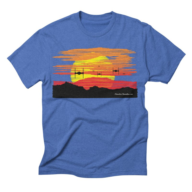 TIE Fighters Approaching Men's Triblend T-shirt by FloresArts