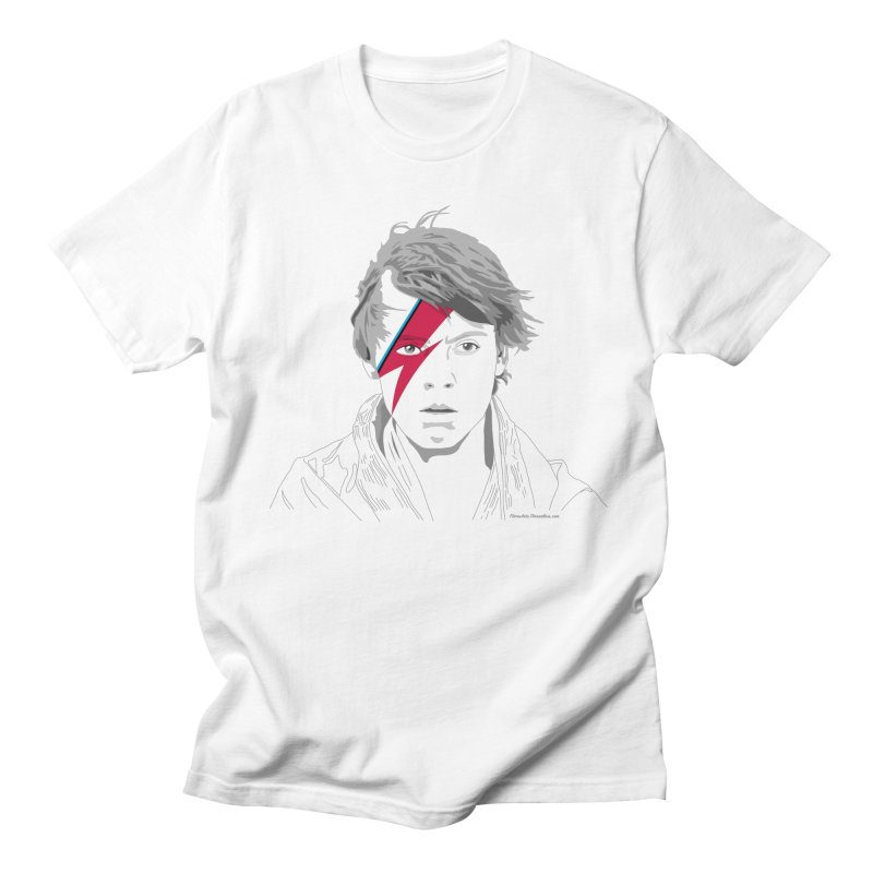 Rebel Rebel in Women's Unisex T-Shirt White by FloresArts