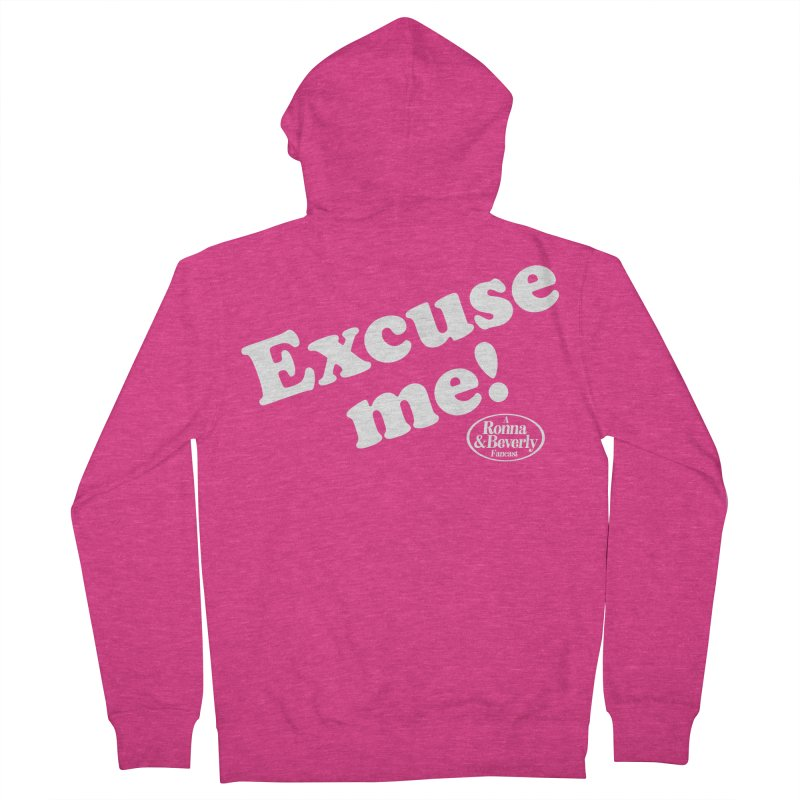 Excuse me Women's Zip-Up Hoody by FloresArts