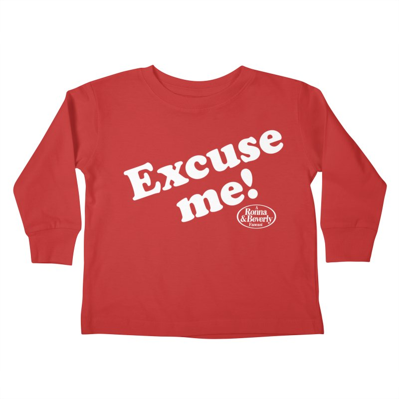 Excuse me Kids Toddler Longsleeve T-Shirt by FloresArts
