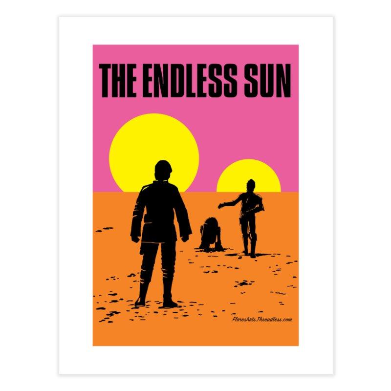 The Endless Sun - Portrait Wall Art Home Fine Art Print by FloresArts