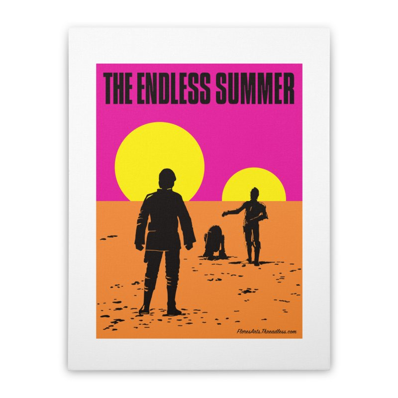 The Endless Summer Home Stretched Canvas by FloresArts