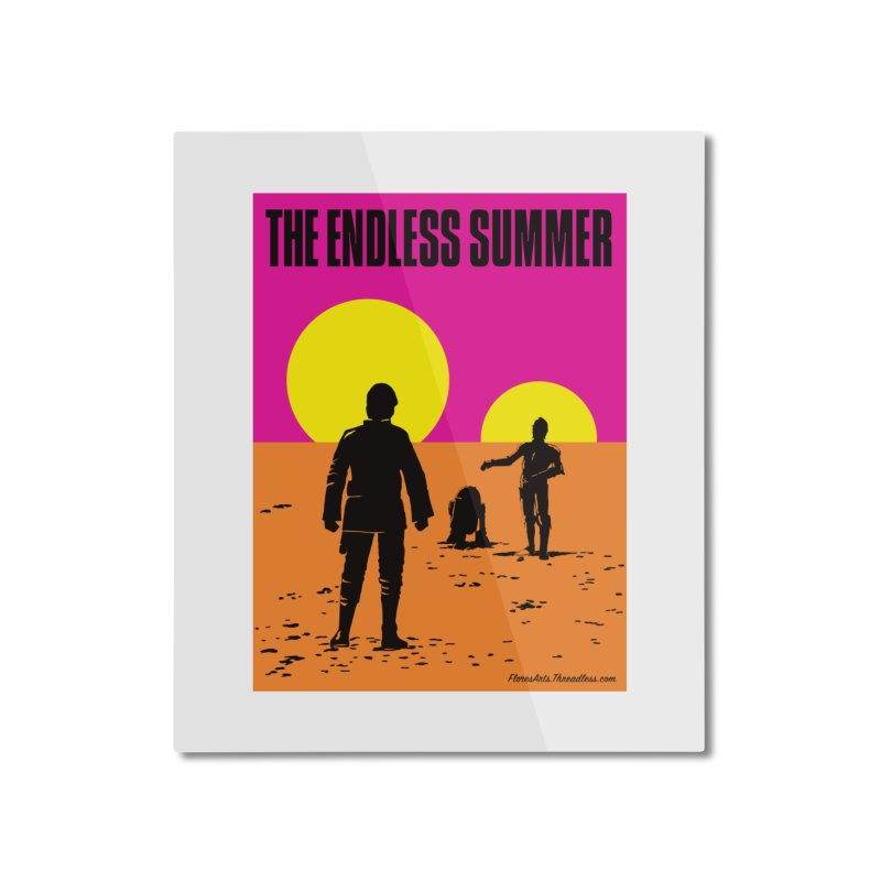 The Endless Summer Home Mounted Aluminum Print by FloresArts