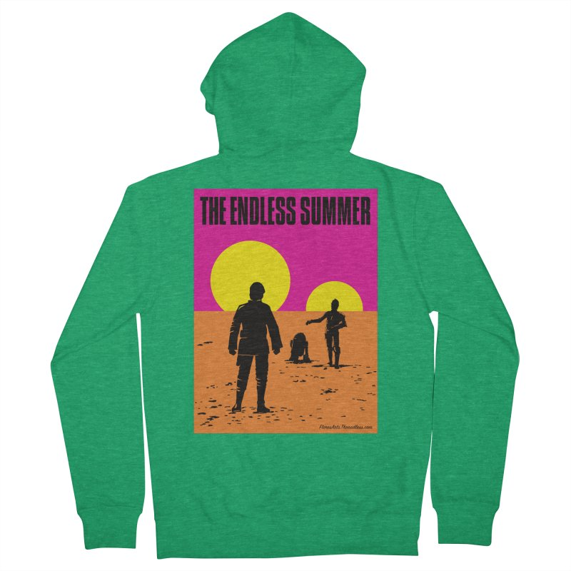 The Endless Summer Women's French Terry Zip-Up Hoody by FloresArts