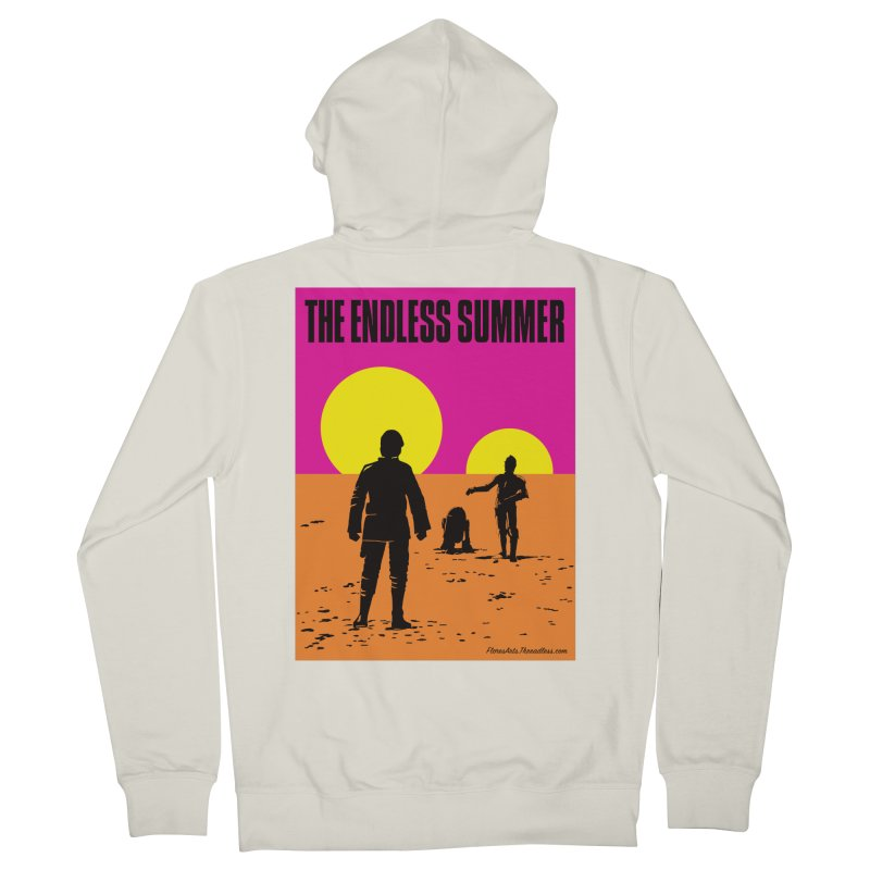 The Endless Summer Men's French Terry Zip-Up Hoody by FloresArts
